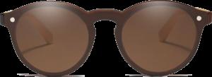 Lunettes de soleil Mirror en bois de Bambou - Forme Ronde - Marron - Vue de Face - Centré