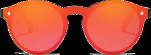 Lunettes de soleil Mirror en bois de Chêne - Forme Ronde - Rouge - Vue de Face - Centré