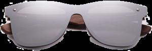 Lunettes de soleil Mirror en bois de Noyer - Forme Wayfarer - Silver - Vue de Face - Centré