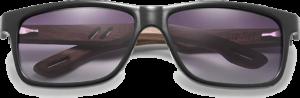 Lunettes de soleil en bois Sport – Etui en cuir - Noyer - Dégradé noir - Vue de face