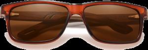 Lunettes de soleil en bois Sport – Etui en cuir - Noyer - Marron - Vue de face
