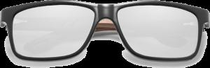 Lunettes de soleil en bois Sport – Etui en cuir - Noyer - Silver - Vue de face