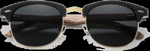 lunettes originales vintage en bois de noyer - noir - vue de face